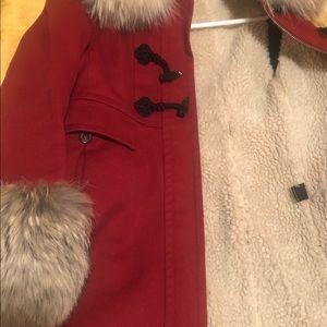 Marc Jacob's coat fleece real fur